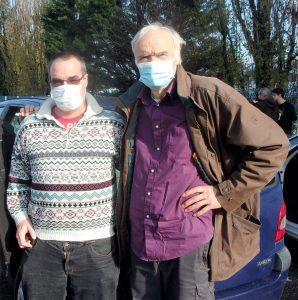 Cyril Mathey et Roger Fréty : deux opposants aux projets autoroutiers et militants écologistes désabusés (© DR/Cyril Mathey).