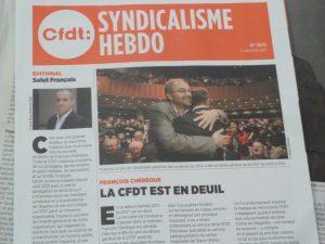De François Chér_que à Laurent Berger: une continuité qui se confirme, tel que l'a souligné l'ebdomadaire Syndicalisme Hebdo du 5 janvier 2017 (© Pierre Nouvelle).