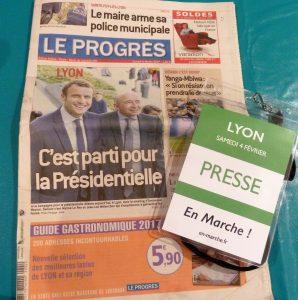 Caîtale du radicalisme puis de la Résistance, La caiptale des gaules acciellait les 4 et 5 février trois challengers de poif=ds pour lé'ection présidentielle française du 7 mai 2017 (© Pierre Nouvelle).