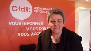 La CFDT a été le pivot de ce regroupement associatif. C'est Elisabeth Le gac, responsable régionale qui animera le débat (© Pierre Nouvelle).