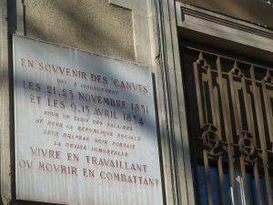 Les révoltes des canuts ont marqué l'histoire de ce quartier qui fut une commune libre (© Pierre Nouvelle).