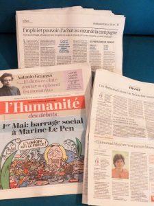 La camapgne de l'élecion présidentielle fait le gtos des articles de la presse écrite avec le rendez-vous du 1er mai à six jours du verdict  (© Pierre Nouvelle).