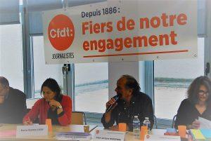 Les journalistes CFDt ont décidé d'une ligne de conduite jusqu'en 2020 : priorité à la lutte contre la précarité (© Christian Vincent).