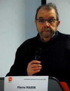 Militant historique de la CFDT, Pierre Marin a eu l'a chance de président l'union nationale des syndicats de journalistes (© Christian Vincent).
