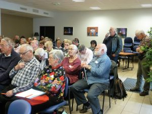 Décoder l'information était le fil rouge d'une journée qui a réunui 80 retraités à lyon, tous militants CFDT venus d'Auvergne et de Rhône-Alpes, qui ont écouté, partagé et dialogué sur cet aspect majeur de la vie citoyenne (© Renée Tronchon).