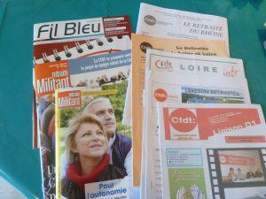 nationalement comme départelement et en région, la CFDT Retraités n'est pas avare de publications écrites et sur le Net (© Pierre Nouvelle).