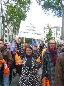 parmi les manifestants CFDT, le rejet de l'extrême(droite apparait parfois viscéral (© Pierre Nouvelle).