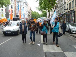 Les syndicalistes autonomes de l'Unsa et les étudiants de la Fage avaient appelé à manifester avec la CFDT à Lyon, comme dans toute la France (© Pierre Nouvelle).