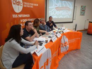 le 30 mars 2017, lors de son assemblée générale, l'Union térritoriale CFDT Rhône-Lyon (ex UD CFDT) a tenu un débat sur l'accueil des étrangers (© Pierre Nouvelle).