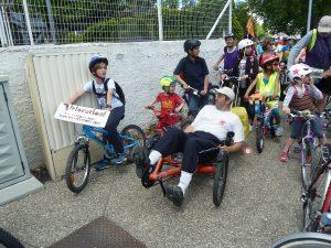 Ils étaient 350 en ce dimanche 14 mai qui ont animé la vélorution 2017 entre Lyon et Vienne (© Pierre Nouvelle).