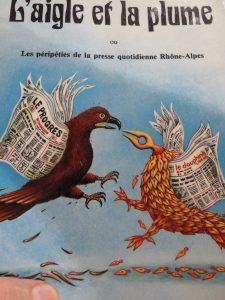 Avant de fusionner définitivement en 1985 avec l'arrivée de Robert hersant, Le Progrès et le Dauphiné libéré ont connu de longues années de conflits; dont les lecteurs n'ont pas été bénéficiaires quant à la qualité de l'information? Aujourd'hui ces deux quotidiens rhonalpins sont partie intégrante du groupe Ebra (© Pierre Nouvelle).