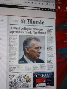 Le Monde, daté du 22 juin mais mis en ligne dès la fin de matinée du 21 juin, puis vendu en kiosque, a ouvert un nouveau round entre la classe politique et les journalistes (© Pierre Nouvelle).