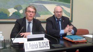 Stéphane Travers, désormais ministre de l'agriculture, était aux côtés de Patrick Bloche lors d'un rendez-vous de la CFDT-Journalistes pendant l'élaboration du projet de loi sur la protection des sources (© Pierre Nouvelle).