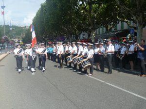 A Vienne comme ailleurs, la cérémonie du 14 juillet débute par le défilé des troupes (© Pierre Nouvelle).