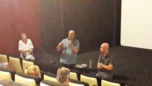 habitué à organiser des débats, les responsableqs du cinéma Arletty ne pouvaient laiser passer l'occasion de ce film pour organiser une projection enavant-première et un débat avec les spectateurs (© Pierre Nouvelle).