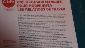 Comme toutes les organisations syndicales, la CFDt est confrontée au contenu d'ordonnances avec lesquelles elle a des divergences (© Pierre Nouvelle).