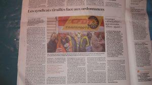 A la différence des routiers qui manifestaient lundi avnt d'être reçus par le gouvernemennt, les retraités CFDT n'appellent pas nationalement à descendre dans la rue  (© Pierre Nouvelle).