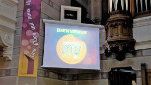Pour la célébration du 500e anniversaire des thèses de Luther, c'est sous les auspices de la grâce qui sauve et de l'amour qui libère qu'a été organisé le Culte de la cité au Grand templs de l'Eglise protestante unie à Lyon (© Pierre Nouvelle).