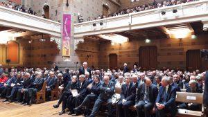 Les responsables religieux et civils étaient venus e nombre pour célébrer l'anniversaire de la Réforme et écouté les propos due François Clavairoly, leader du protestantisme français (© Pierre Nouvelle).