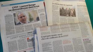 La presse régionale et nationale a mis l'accent sur des points différents de la démarche CFDT (© Pierre Nouvelle).