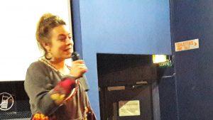 Pour son second long métrage, Charlotte Pouch était au cinéma Comoedia à Lyon lors d'une avant-première orgainsée avec la CFDT (© Pierre Nouvelle).