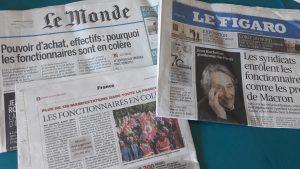 Pour la presseunanime, les syndicats veulent secouer le gouvernement (© Pierre Nouvelle).