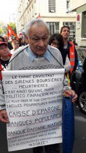 Des retraiés solidaires des salariés avec qui ils paratgent une détérioration es conditions de vie (© Pierre Nouvelle).