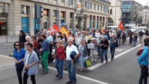 Dans le Rhône, le 28 septembre, l'union territoriale des retraités avait appelé à manifester avec les neuf autres organisations pour protester contre la hausse spécifique de la CSG (© Pierre Nouvelle).