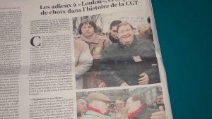 Louis Viannet : une bonhomie évidente qui illustrait une démarche d'ouverture pour aider au rassemblement dy syndicalisme (© Pierre Nouvelle/DR L'Humanité).