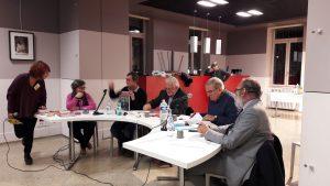 le grand débat de la 10e édition de Novembre des canuts n'a pas dérogé à la règle avec des contributions approdondies et un débat nourri avec un public venu en nombre (© Pierre Nouvelle).