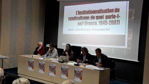 Définir ce que représente l'institutionalisation du mouvement syndical et analyser l'attitude des syndicalstes vis à vis des institutions de la République a été le travail de la première journée du colloque lyonnais de l'institut CGT d'histoire sociale (© Pierre Nouvelle).