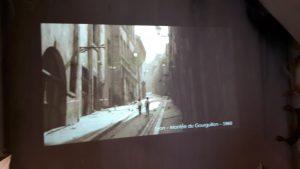 La vie, mode d'emploi est un texte de georges Pérec que les animateurs du Musée urbain Tnuy garnier ont choisi pour illustrer la tarnsition entre habitaions insalubres et quartier modernes des années cinquante (© Pierre Nouvelle).