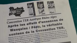 Pour les cheminots CGT, la nouvelle convention passée entre la SNCF et la Région aura ne pourra satisfaire les besoins croissants de la population en matière de transports collectifs (© Pierre Nouvelle).