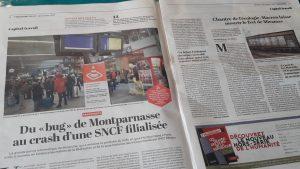 Comme le souligne le quotidien L'Humanité du 5 décembre, au delà des bugs c'est tout l'avenir de la SNCF et des trabnsports ferroviaires publics qui est posé (© Pierre Nouvelle).