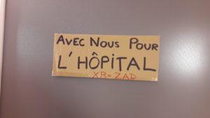 Les personnels de l'hôpital de la Croix-Rousse escompte sur le soutien des usagers et des patients de cet établissement public de santé (© Pierre Nouvelle).