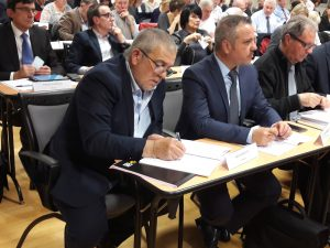 Le maire d'Ampuis, gérard Banchet, ancien président dela Communauté de communes de la région de Condrieu devient le 4e Vice-président de la nouvelle agglomération (© Pierre Nouvelle).