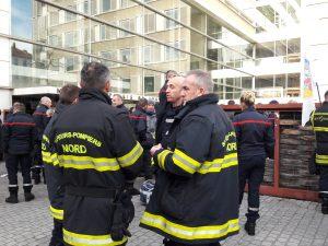 Comme en onvemebre 2017 avec des pompiers venus du gard, c'est du Nord de la France que des soldats du feu sont venus en renfort à Lyon pour manifester (© Pierre Nouvelle).