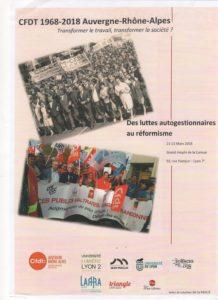 Une quarantaine d'enseignanst, chercheurs et acteurs sociaux interviendront les 21 et 22 mars à Lyon et débattront avec le public (© DR/CFDT du Rhône).