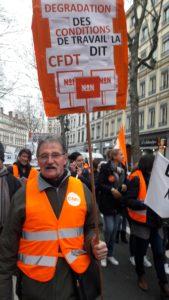 Les retraités avaienr rejoints les salariés, et étaient tous acteurs de cette protestation (© Pierre Nouvelle).