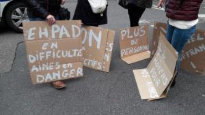 Ehpas , personnels et personnes âgées en danger : un même leitmotiv (© Pierre Nouvelle).