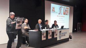 C'est Peter Wirz, vice-président de l'Université Lyon 3 et Elisabeth Le Gac, ex-secrétaire générale de la CFDT Auvergne-Rhône-Alpes qui ont ouvert deux journées ouverte sur le monde du travail et sur la société (© Pierre Nouvelle).