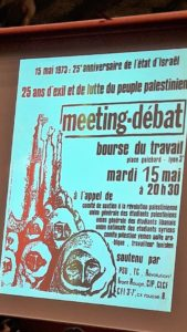 La défense travailleurs immigrés et du peuple palestinien s'est inscrite dans la mouvance du mouvement de mai-juin 68 (© Pierre Nouvelle).