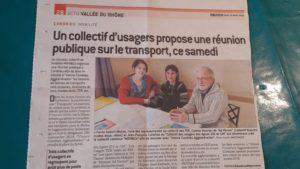 L'information relayée par le quotdien Le Progrès a contribué à mobiliser la population (© Pierre Nouvelle).