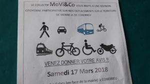 Le 17 mars 2018 à Condrieu, les habitants du bassin viennois sont invités à exprimer leurs besoisn et attentes sur tous les modes de déplacements(© Pierre Nouvelle).