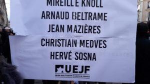 Dans cet hommage national, ce sont les quatre personnes assassinées à Trèbes qu ont été unies à Mirielle Knoll, elle aussi victime du fanatisme (© Pierre Nouvelle).