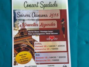 Avant un automne où sont prévus plusieurs concerts, c'est le printemps qui donne lieu à cinq spectacles dans la salle des fêtes de St-Clair(du-Rhône (© DR).
