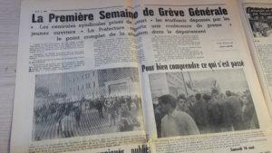Les journaux luyonnas sont parus jusqu(à la troisième semaine de mai 68 avant que les ouvriers du livre ne se mettent en grève (© Pierre Nouvelle).