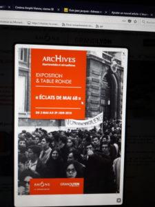 Au démarrage d'une exposition sur les événements de mai-juin 68 ) &hellip; </p> <a href=