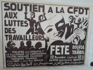 Entre 1968 et 2018, le soutien aux luttes sociales a pris des formes diverses (© DR/ CFDT Rhône).