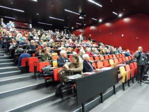 Pendant deux jours (les 21 et 22 mars 2018), près de 200 personnes ont écouté les communications d'une quarantaine d'universitaitres et de témoins et acteurs de la période 1968-2018 (© Gilles Cadoret).
